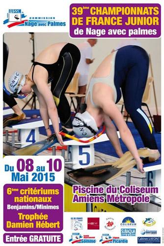39ème Championnats de France Juniors Nage Avec Palmes Piscine - Amiens - 2015